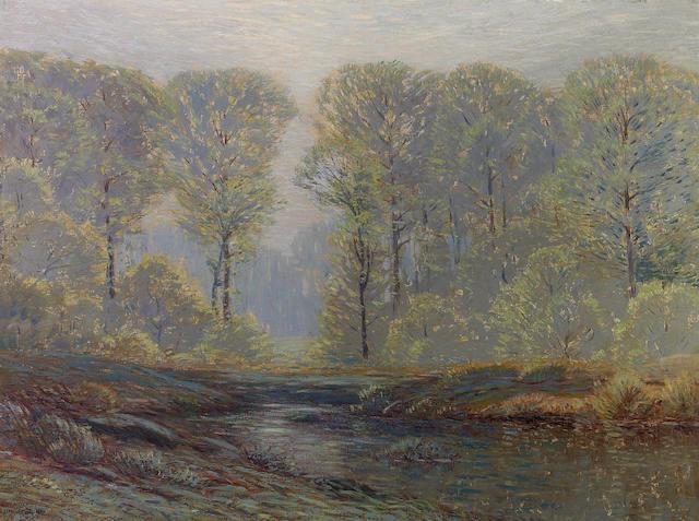 Leonard Ochtman (American, 1854-1935) Landscape