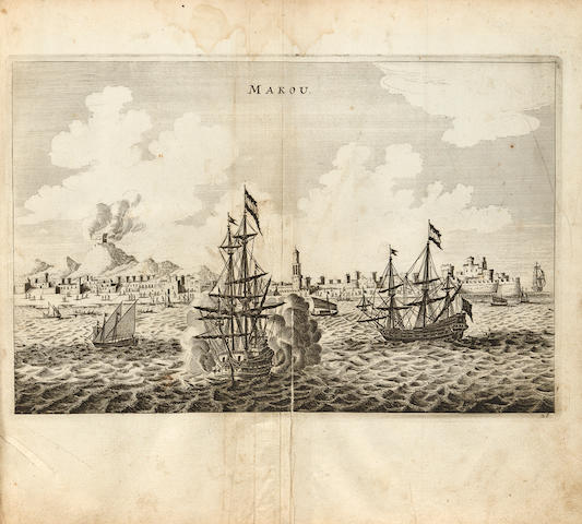 Nieuhoff. Die Gesantschaft der Ost-Indischen Geselschaft in den Vereinigten Niederlaendern, an den Tartarischen Cham.... Amst., 1669.
