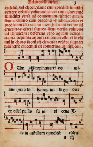 Processionarium, of Dominican use. Venice: L. A. Giunta, 1545