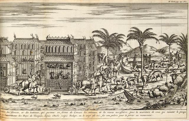 Tavernier. Les Six Voyages en Turquie, en Perse et aux Indes.... [Amst.?], 1679. 3 vols. 12mo.