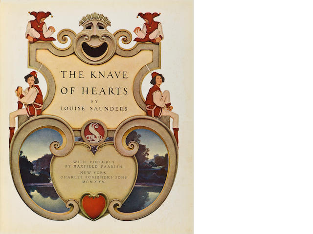 PARRISH, MAXFIELD. 1870-1966. SAUNDERS, LOUISE. The Knave of Hearts.  New York: Charles Scribner's Sons, 1925.<BR />