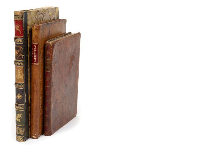 GROSE, FRANCIS. Regeln zur Karikaturzeichnung nebset einem Versuche uber die Komische Mahlerei. Leipzig: Baumgartnerischen & Wien: Mollo und Komp, [1800].<BR />