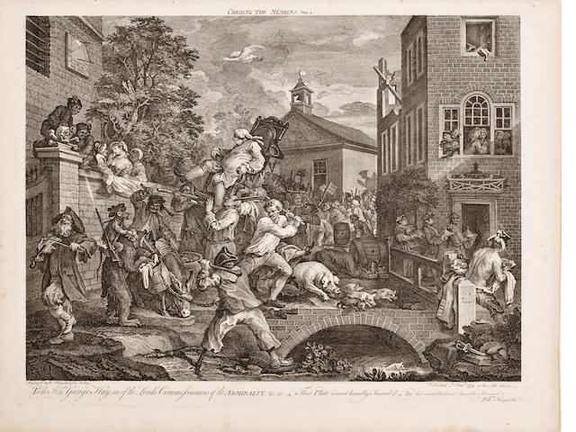Hogarth.  Election Series.  4 prints.