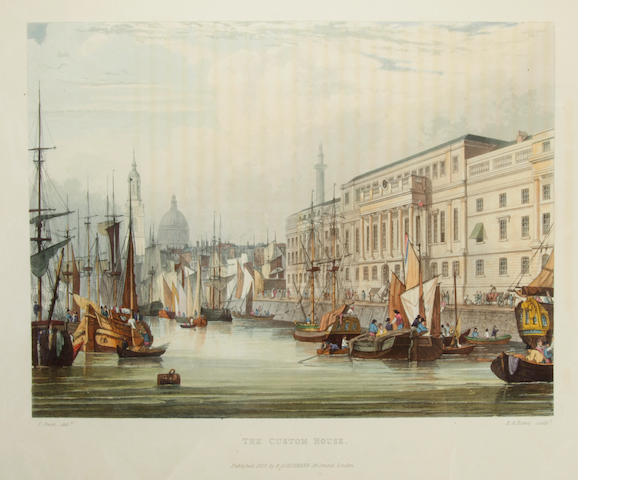 WESTALL, WILLIAM AND SAMUEL OWEN. Picturesque Tour of the River Thames. London: Ackermann, 1828.<BR />