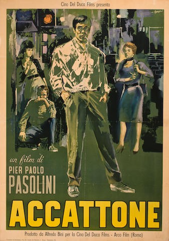 Accatone.  Large Italian poster.