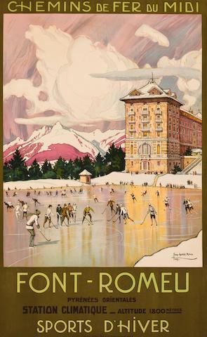 ROUX, TONY GEORGE. 1894-1928. Chemins de fer du Midi: Font-Romeu. Paris: Lucien Serre, 1923.