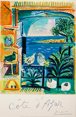 PICASSO, PABLO. 1881-1973, after. Cote d'Azur. Paris: Mourlot, [1962].