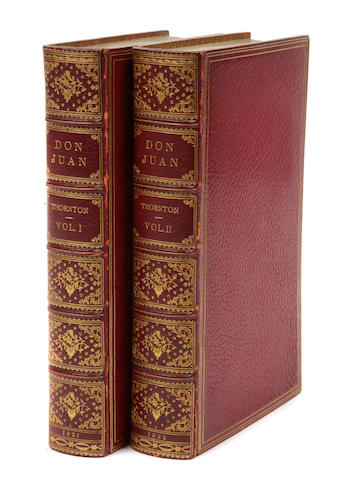 THORNTON, ALFRED. Don Juan. London: Printed for Thomas Kelly, 1821-22.