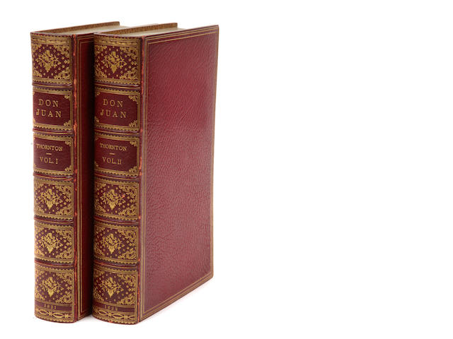 THORNTON, ALFRED. Don Juan. London: Printed for Thomas Kelly, 1821-22.<BR />