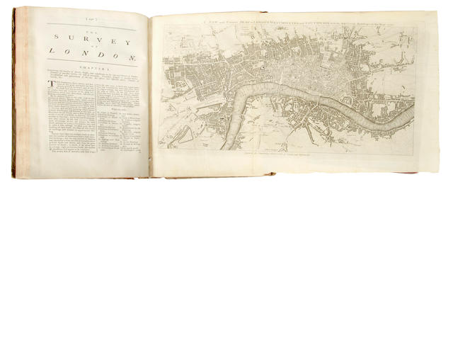 Chamberlain, Henry.  A New and Compleat History ... London and Westminster.   CHAMBERLAIN, HENRY. A New and Compleat History and Survey of the Cities of London and Westminster, the Borough of Southward, and Parts Adjacent. London: J. Cooke, [1770].<BR />