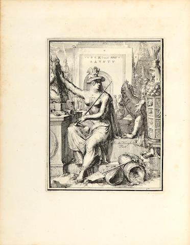 HOOGHE, ROMEIN DE. D.1708. Hieroglyphica of Merkbeelden der oude Volkeren. Amsterdam: Joris van der Woude, 1735.