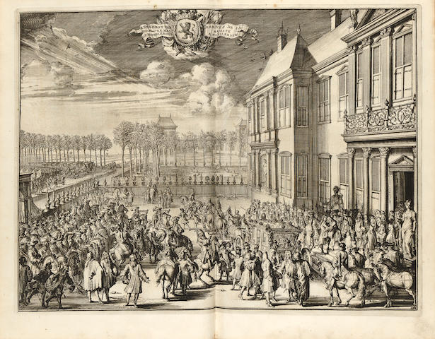 Bidloo, Govert.  Komste van Zyne Jamesteit Willem III.
