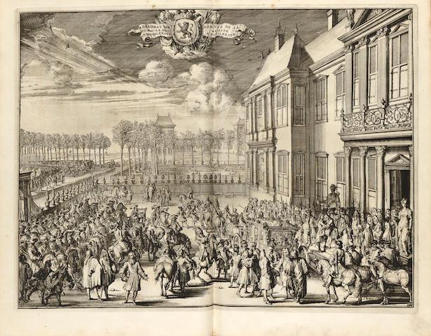 [BIDLOO, GOVARD. 1649-1713.] Komste van zyne Majesteit Willem III, Konig van Groot Britanje, enz. in Holland. The Hague: Arnoud Leers, 1691.