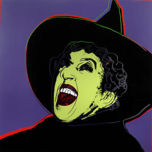 Andy Warhol (American, 1928-1987); from Myths 'Witch' color screenprint;