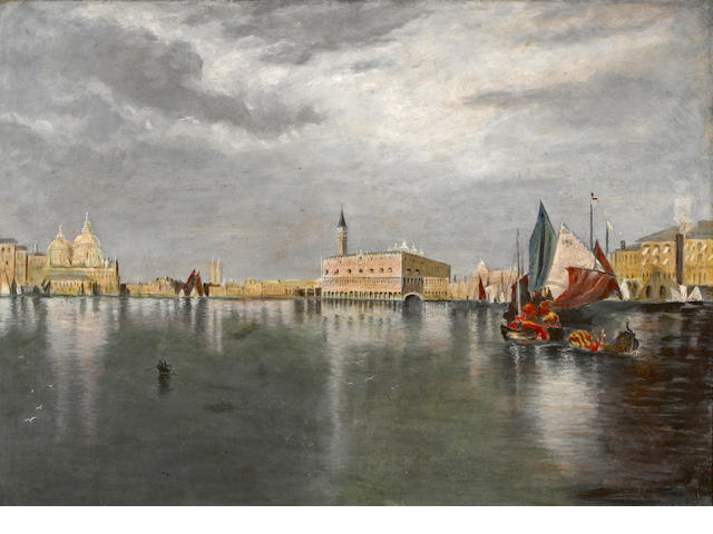 A marine scene, oil on canvas