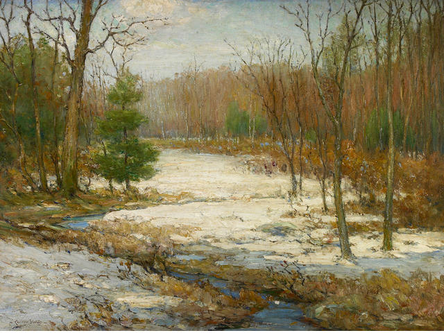 Cullen Yates, A winter landscape, oil on canvas