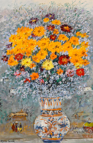 Michele Cascella (Italian, 1892-1989) The vase of Isabella 35 x 23in (88.9 x 58.4cm)