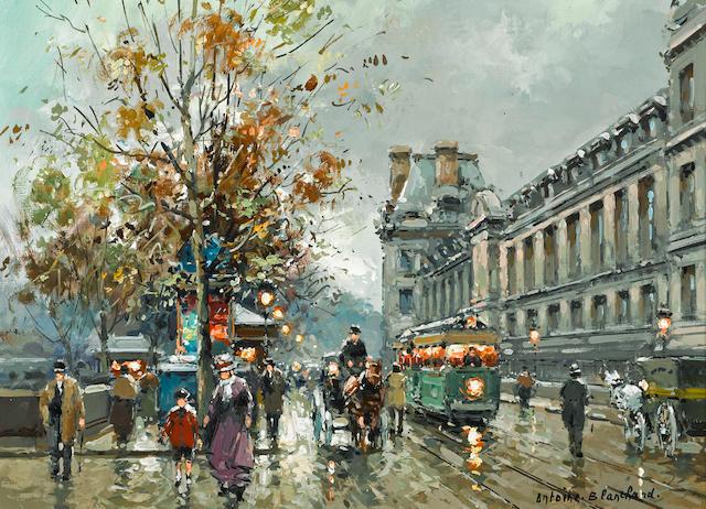Antoine Blanchard (French, 1910-1988) Quai du Louvre 13 x 18in (33 x 45.7cm)