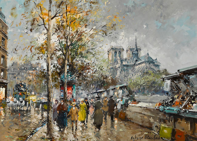 Antoine Blanchard (French, 1910-1988) Notre Dame, Paris 13 x 18in (33 x 45.7cm)