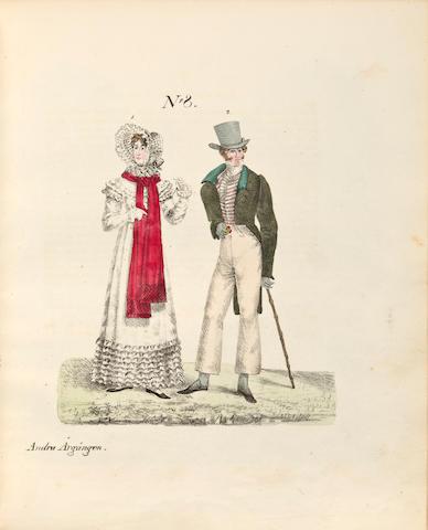 COSTUME. [BOIJE AF GENNAS, FREDRIK CARL, editor.]  1. Konst och Nyhets Magasin för Medborgare af alla Klasser. Stockholm: 1818-1822.