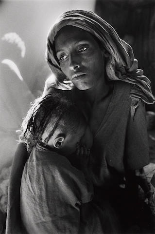 Sebastião Salgado (Brazilian, born 1944); Children's Ward in the Korem Refugee Camp, Ethiopia;