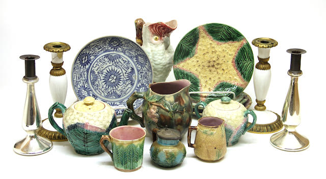 A large assembled group of glass and ceramics 18th/19th/20th century