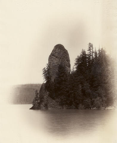 Frank Jay Haynes (American, 1853-1921); Vignette/Rooster Rock; (1)
