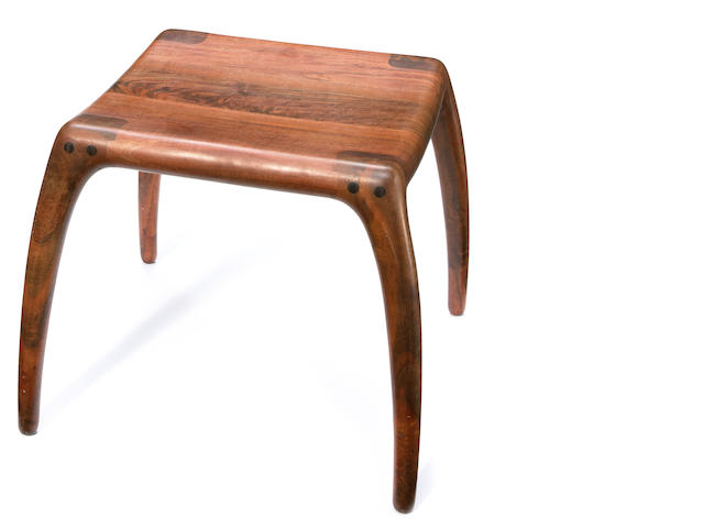 Richard Pohlers walnut stool