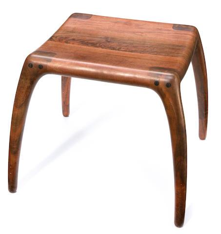 Richard Pohlers walnut stool