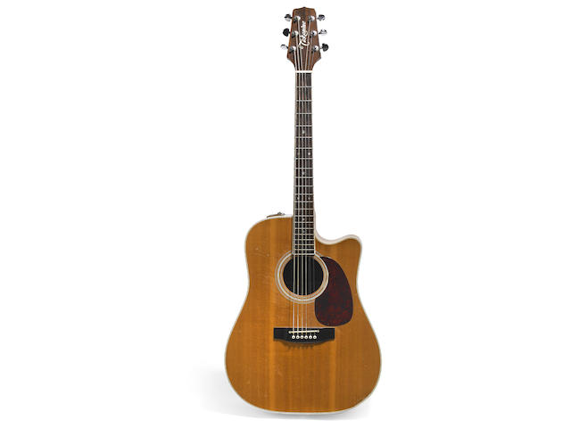 A Jerry Garcia stage-played, acoustic guitar made by Takamine, ca. 1985
