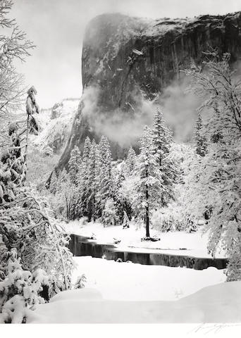 Ansel Adams (American, 1902-1984); El Capitan, Winter, Yosemite National Park;