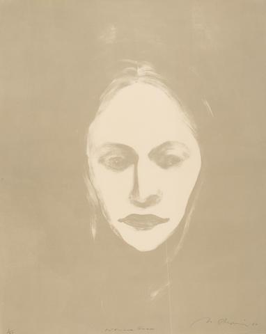 Nathan Oliveira (American, 1928-2010); Woman's Face;