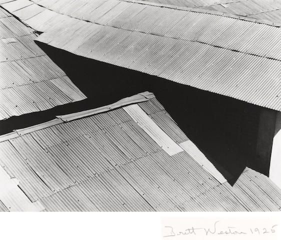 Brett Weston (American, 1911-1993); Tin Roofs, Mexico;