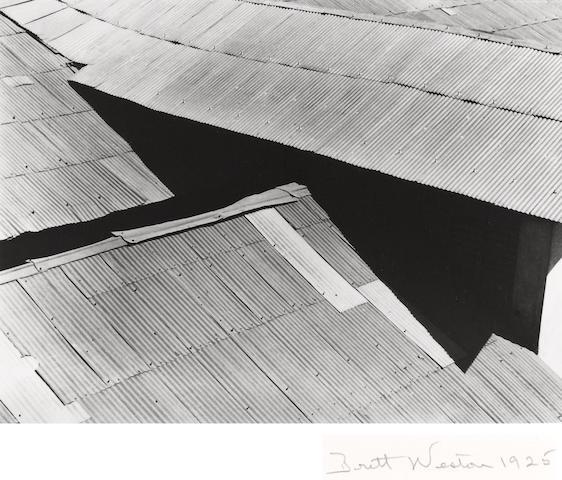 Brett Weston (American, 1911-1993); Tin Roofs, Mexico;