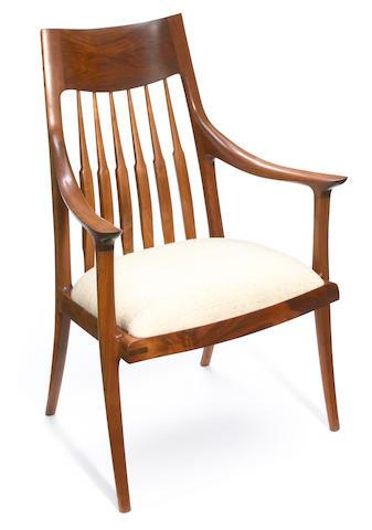 John Nyquist (American, born 1936) Open armchair, 1985