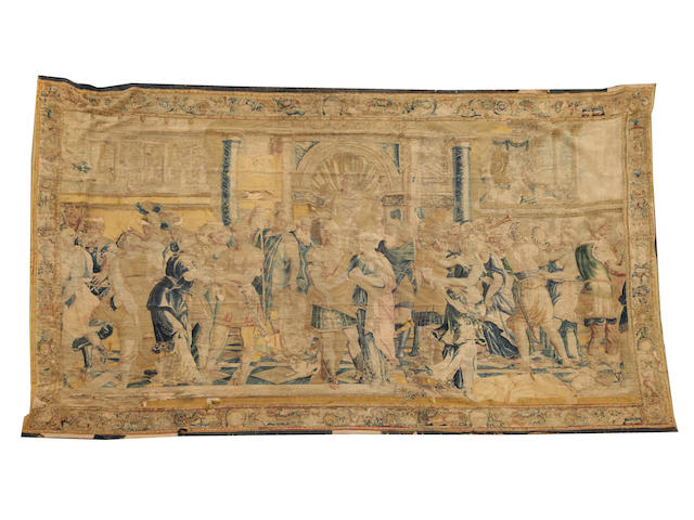 A French Aubusson carpet  size approximately 10ft. 8in. x 16ft. 7in.