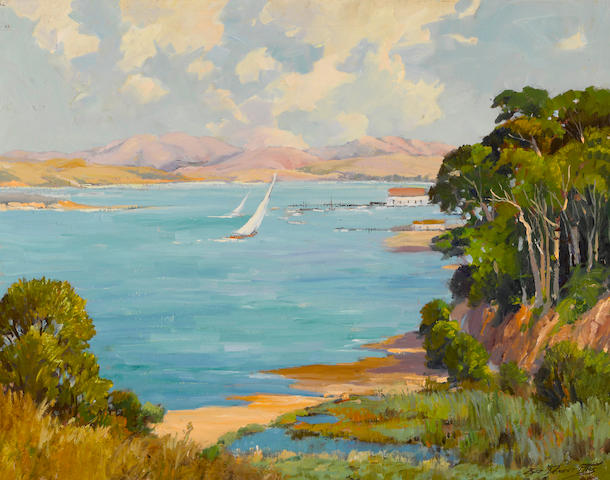 George Demont Otis (American, 1879-1962) Shores of Marin 28 X 36in