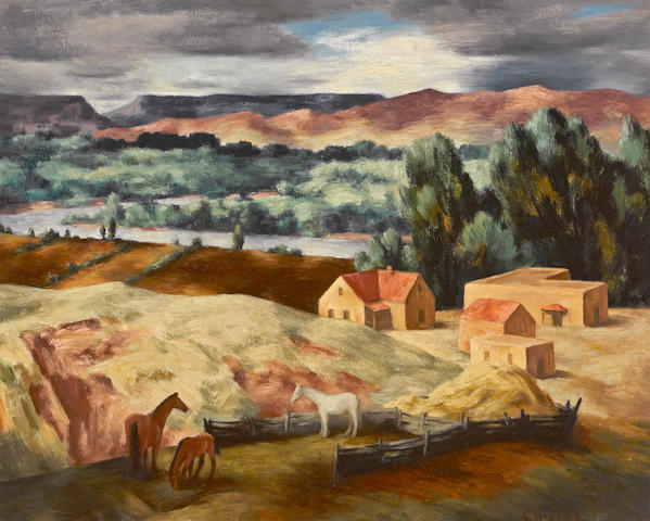 Russell Cowles (American, 1887-1979) Valley of the Rio Grande 24 x 30in
