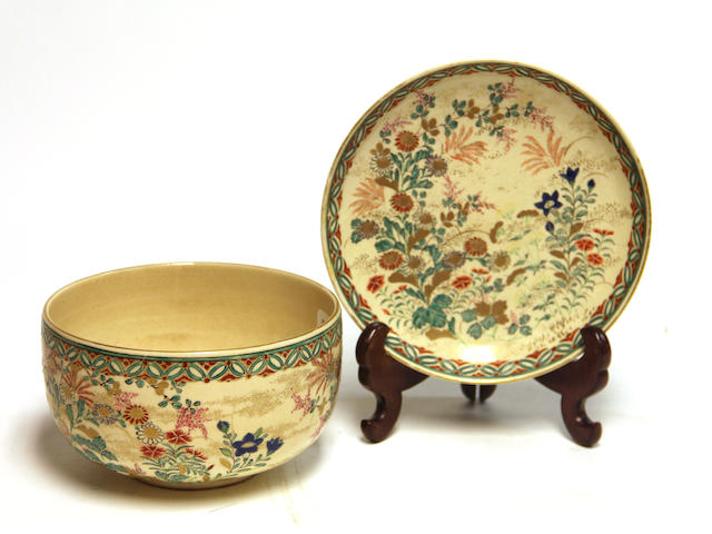 Two Japanese Kyoyaki ceramics