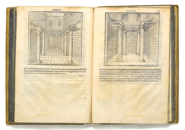 VITRUVIUS POLLIO, MARCUS. FL. 15 B.C. De Architectura. Venice: Joane Antonio & Piero Fratelli da Sabio, March 1524.
