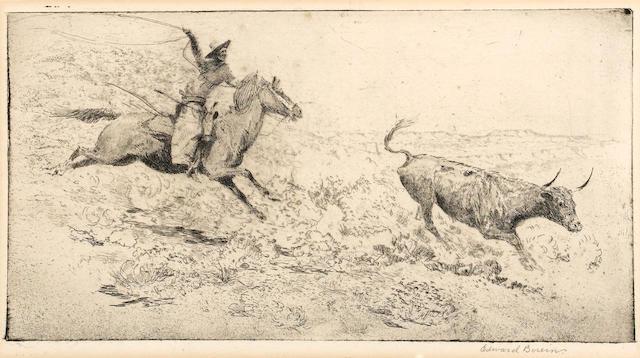 Edward Borein (American, 1872-1945); The Long Throw;