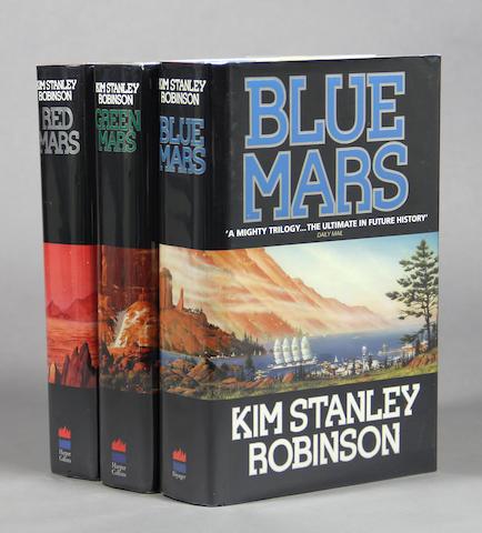ROBINSON, KIM STANLEY. Red [Green; Blue] Mars.  [London]: Harper, [1992-1996.]