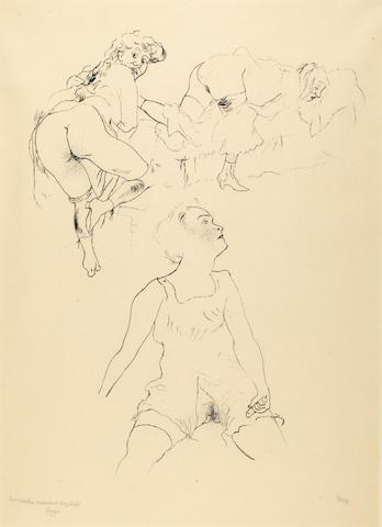 George Grosz (German, 1893-1959); Félicien Rops gewidmet;