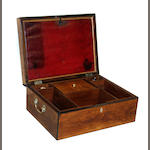 A French satinwood crossbanded fitted box