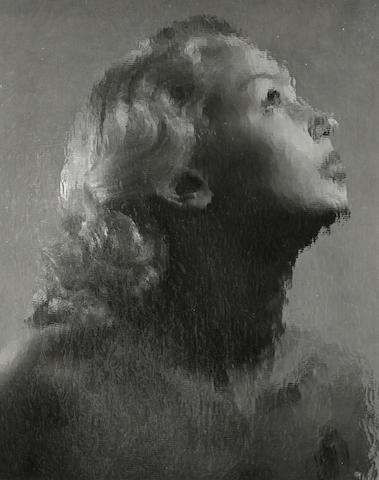 Erwin Blumenfeld (German, 1897-1969); Untitled (Woman Behind Glass);