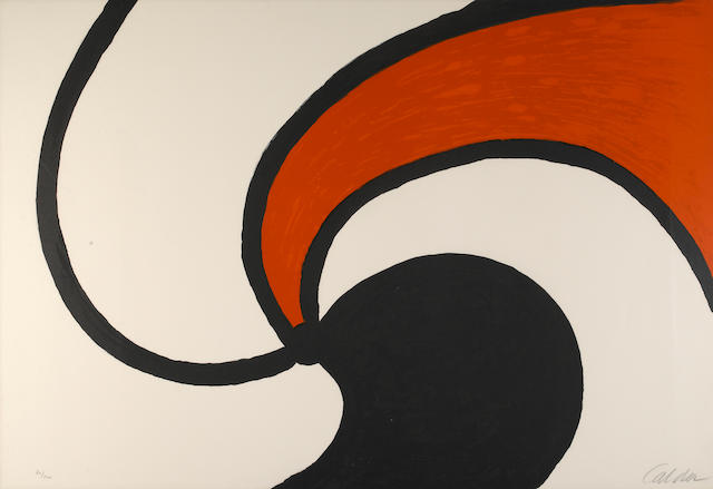 Alexander Calder (American, 1898-1976); Spiral composition (Spiral Nebula);