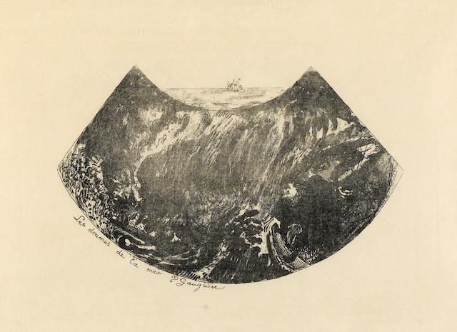 Paul Gauguin (French, 1848-1903); Les Drames de la Mer-Une descente dans le maelstrom;