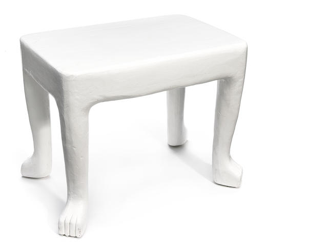 A John Dickinson plaster side table 1970s, model 103