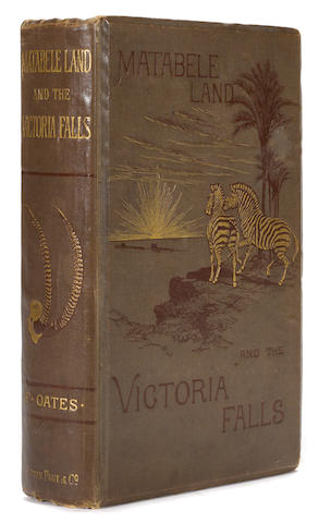 OATES, FRANK. Matabele Land and the Victoria Falls: A Naturalist's Wanderings in the Interior of South Africa. London: C. Kegan Paul & Co., 1881.