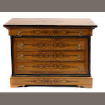 A Charles X style chest of drawers